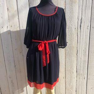 Endives 6p color block  Navy  blue dress